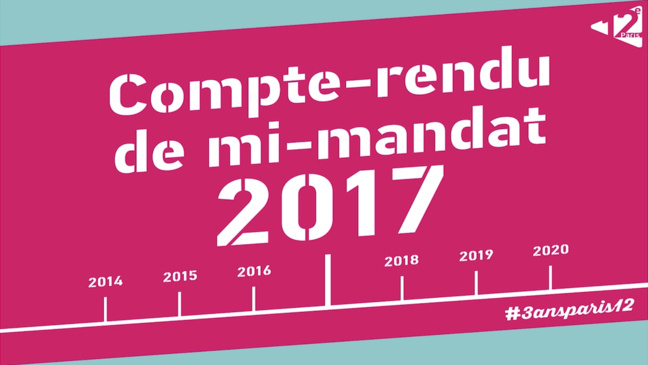 Compte-rendu de mi-mandat 2017 de Paris 12e