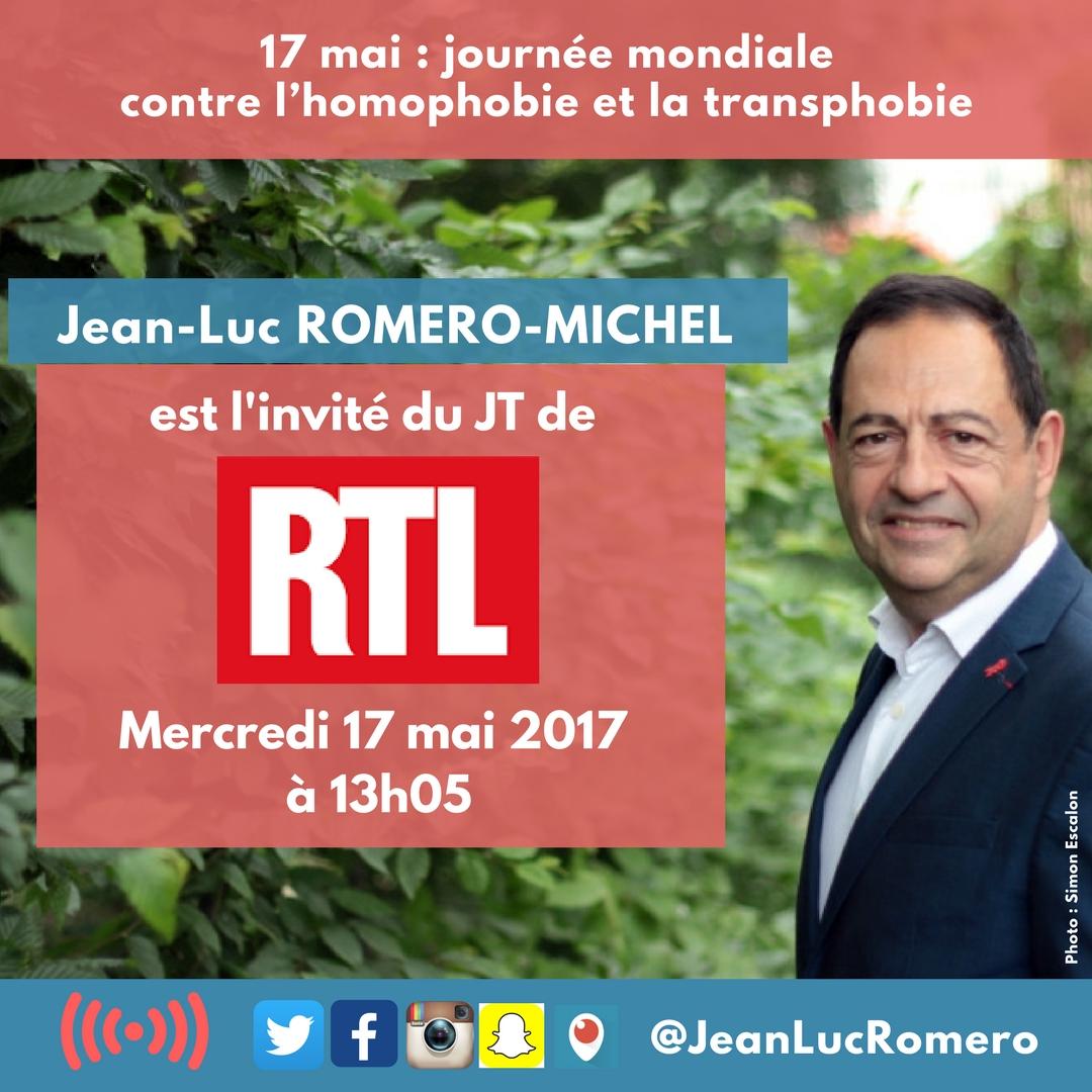 Invité de RTL, ce 17 mai à 13h05