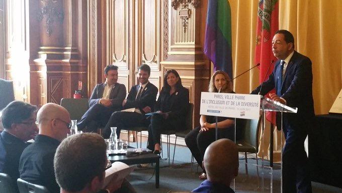 Discours de Jean-Luc Romero-Michel pour la remise de son rapport pour faire de Paris une ville phare de l'inclusion et de la diversité.