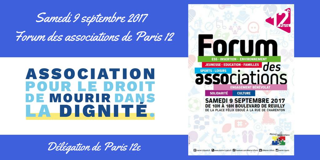 L'ADMD Paris 12e au Forum des Associations du 12e