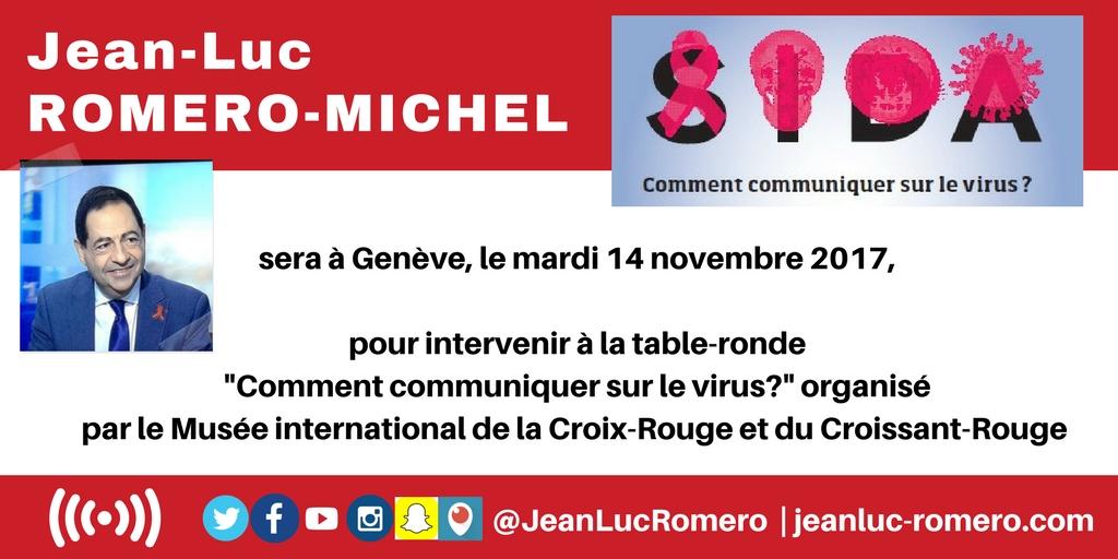A Genève, le mardi 14 novembre pour une conférence autour du VIH/Sida