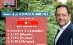 Invité de RFI, ce 4 décembre