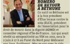 Jean-Luc Romero, ce retour à Béthune dans la Voix du Nord