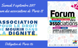 L'ADMD Paris 12e au Forum des Associations du 12e