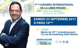Au Congrès international de la Libre Pensée, samedi 23 septembre 2017