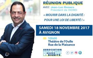 A Avignon, le 18 novembre 2017 pour une réunion publique de l'ADMD