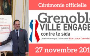 A Grenoble, le 27 novembre 2017, dans le cadre de la lutte contre le VIH/Sida