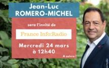 Invité de France Info:Radio ce vendredi 24 mais à 12H40