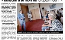« Réfléchir à sa mort ne fait pas mourir » Jean-Luc Romero dans Centre Presse