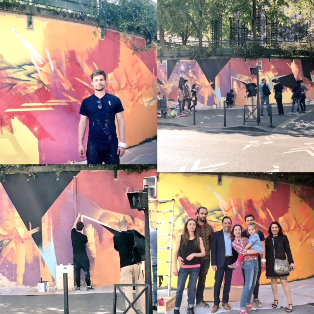 Steet Art rue du Sahel par Théo Lopez... à Paris 12 !