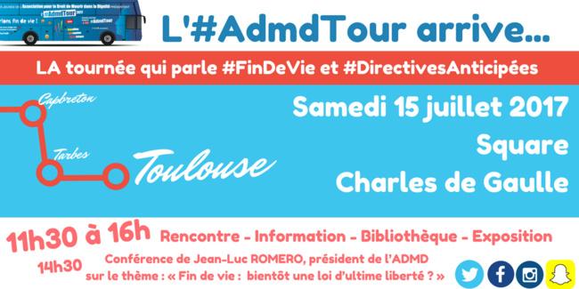 A Toulouse, le 15 juillet 2017 pour l'#AdmdTour