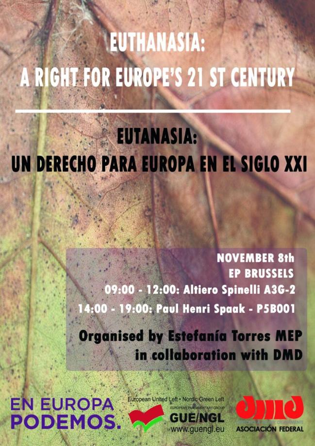 A Bruxelles, pour parler fin de vie en Europe, le 8 novembre 2017