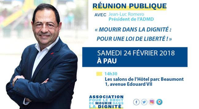 A Pau, ce samedi 24 février pour une réunion publique de l'ADMD