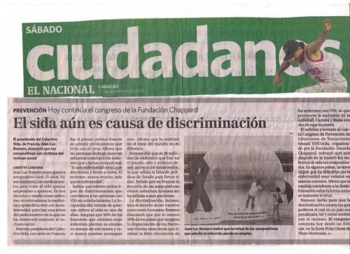 Article de presse à Caracas