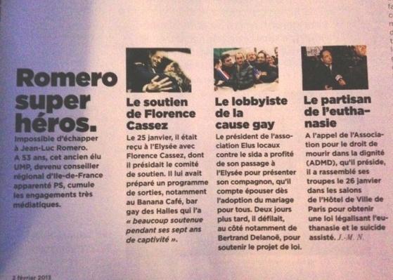 Romero super héros (Le Monde 2 du 2 février 2013)