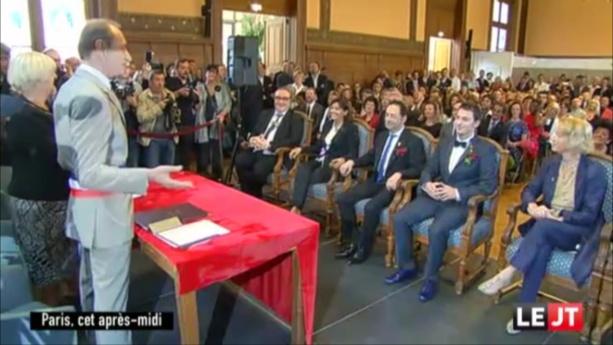 """""""1er jour de notre nouvelle vie"""" : mariage de Jean-Luc Romero et Christophe Michel."""