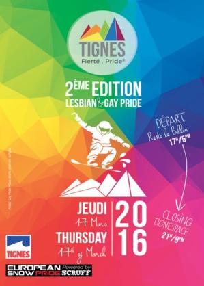 Parrain de la Gay Pride de Tignes, le jeudi 17 mars 2016