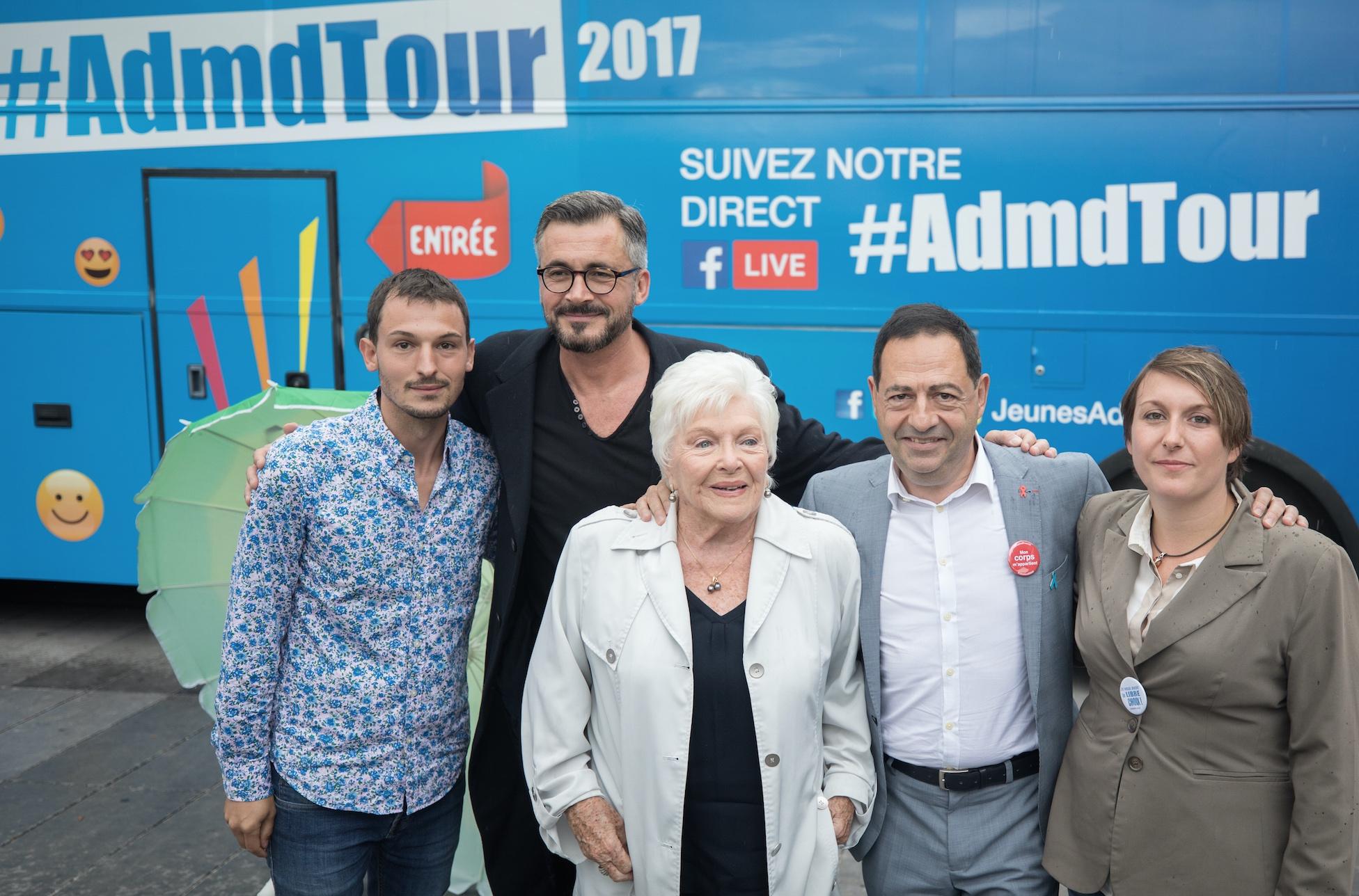 Ici avec Christophe Michel, Olivier Minne, Line Renaud, JLR, et Mélanie Raphael-Béthune