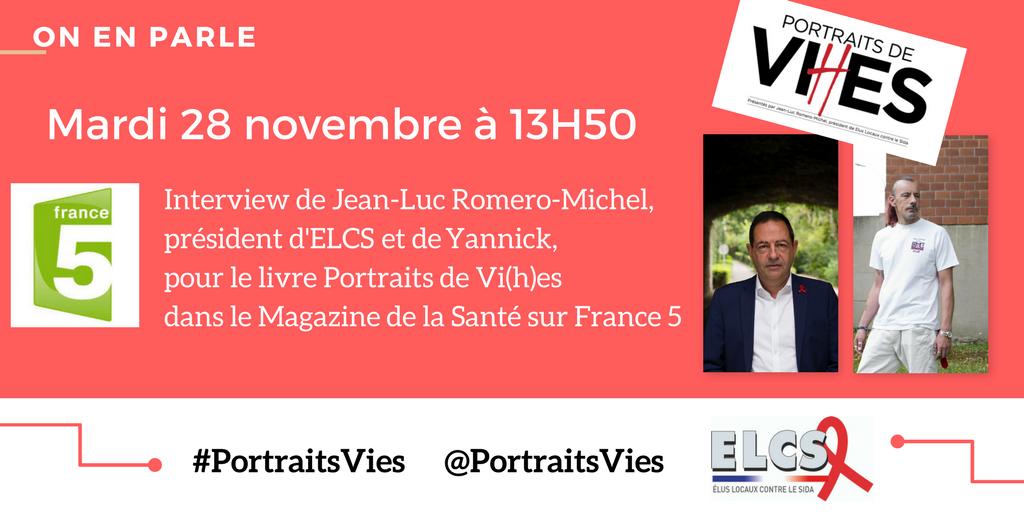 Invité de France 5, ce mardi 28 novembre à 13H50