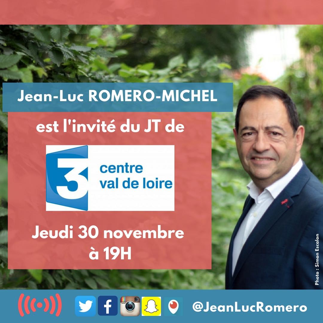 Invité du JT de 19h de France 3 Centre Val de Loire