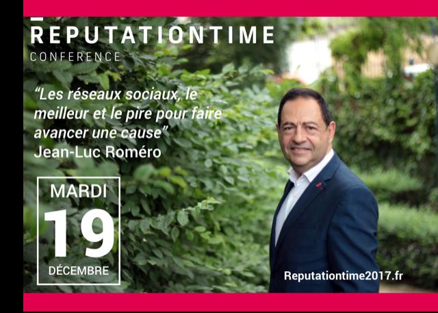 Intervention de Jean-Luc Romero à la RéputationTime 2017 à Paris