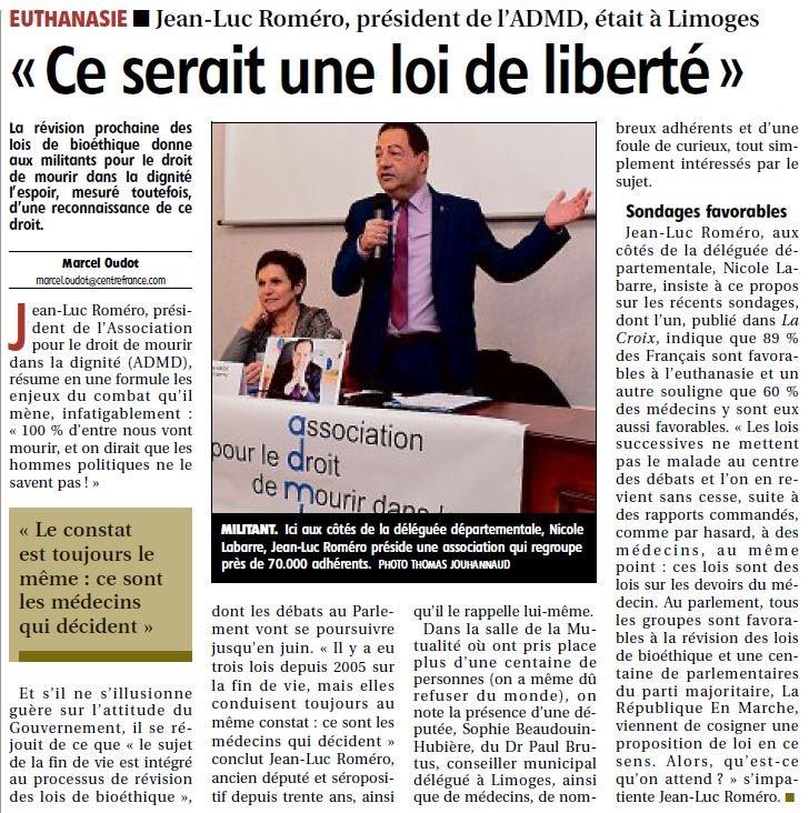 """Fin de vie : """"Ce serait une loi de liberté"""" pour Jean-Luc Romero"""