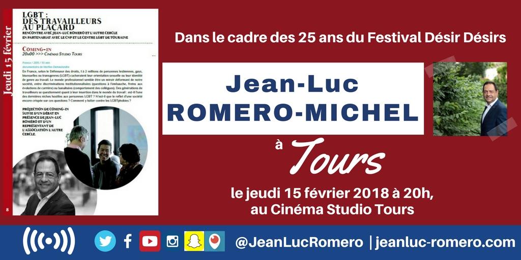 A Tours, le jeudi 15 février 2018, pour les 25 ans du Festival Désir Désirs