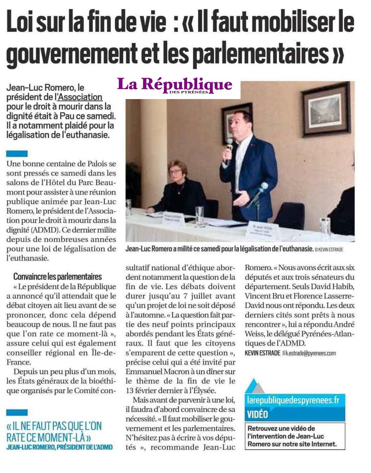 """""""Il faut mobiliser le gouvernement et les parlementaires"""" sur la fin de vie - Jean-Luc Romero"""