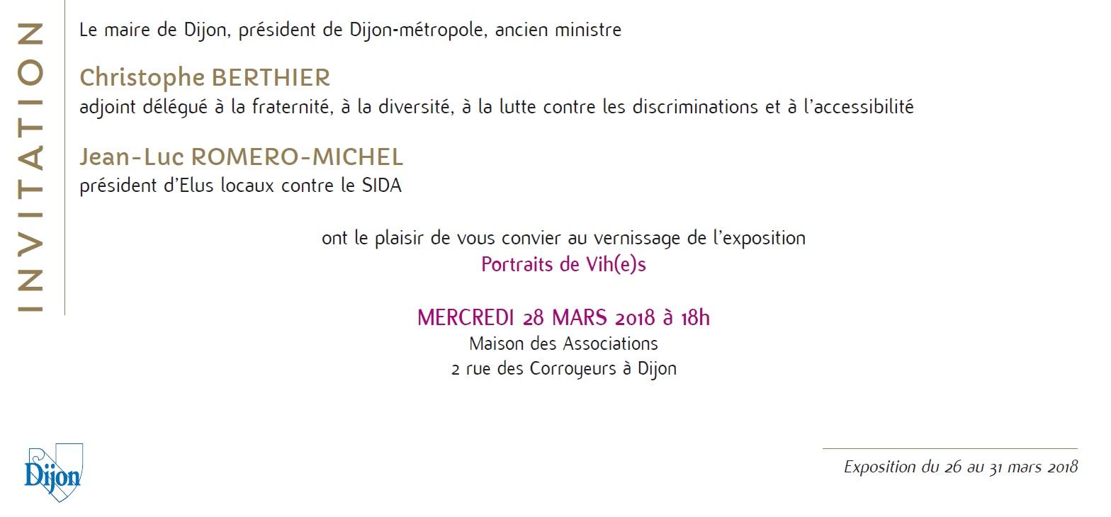 A Dijon, le mercredi 28 mars 2018 pour Portraits de Vi(h)es