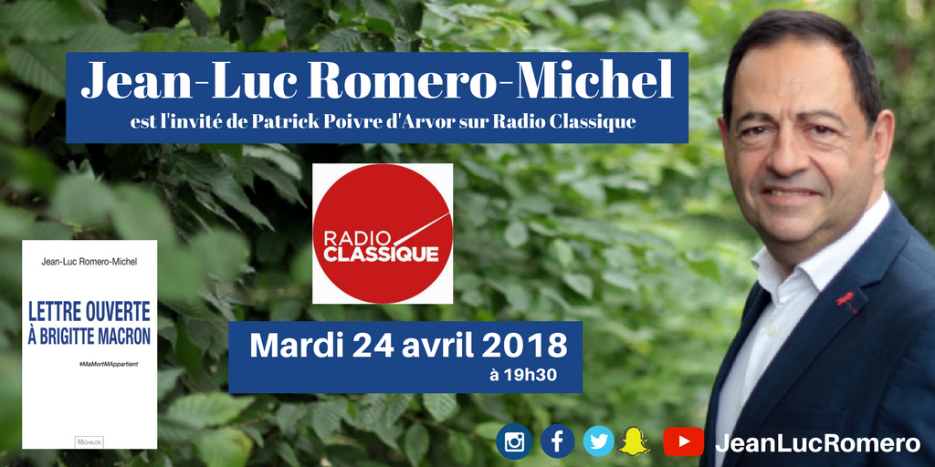 Invité de Radio Classique, ce mardi 24 avril à 19h30