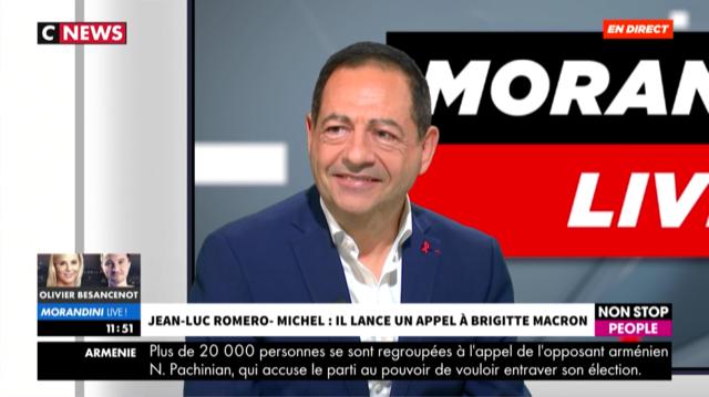 """VIDEO """"Jean-Luc Romero-Michel lance un appel à Brigitte Macron sur la fin de vie"""" sur CNEWS"""