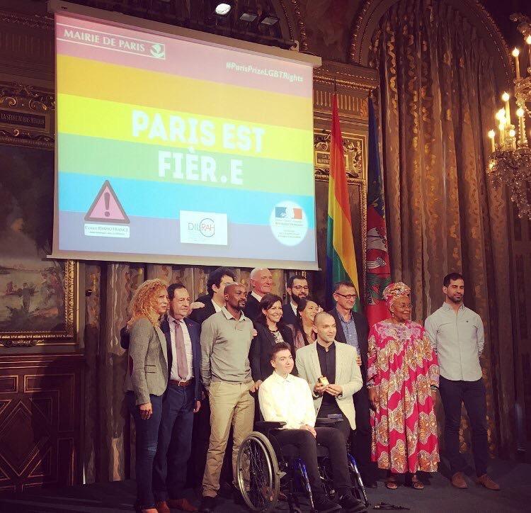 Premier prix #ParisPrizeLgbtRights de la ville de Paris
