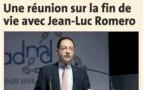 """Dordogne libre : """"une réunion sur la fin de vie avec Jean-Luc Romero"""""""