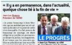 """Jean Mercier : """"Il y'a en permanence, quelque chose lié à la fin de vie"""" Jean-Luc Romero dans le Progrès"""