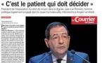 """""""C'est le patient qui doit décider"""" Interview de Jean-Luc Romero dans Le Courrier de l'Ouest"""