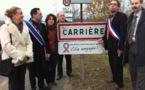 Intervention lors du lancement du panneau « ville engagée », le 1er décembre 2011