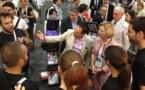 Visite de la Ministre de la Recherche sur le Stand France, AIDS 2012