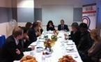 1er petit déjeuner d'ELCS avec Sandrine Mazetier, V/P de l'Assemblée Nationale, ce 8 octobre 2012