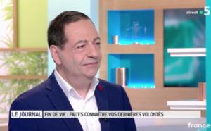 """VIDEO - """"Il faut être le plus précis possible au sujet des directives anticipées"""" Jean-Luc Romero sur France 5"""